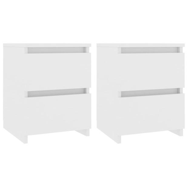 2 db fehér forgácslap éjjeliszekrény 30 x 30 x 40 cm - utánvéttel vagy ingyenes szállítással