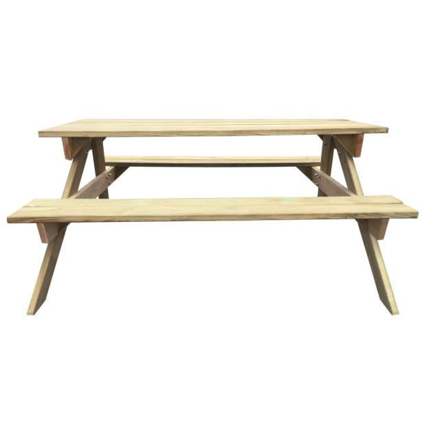Fa piknik asztal 150 x 135 x 71,5 cm - utánvéttel vagy ingyenes szállítással