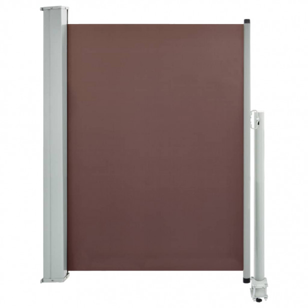 Barna behúzható oldalsó teraszi napellenző 100 x 300 cm - utánvéttel vagy ingyenes szállítással