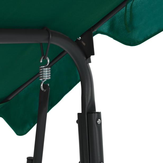 Zöld szövet kerti hintaszék 170 x 110 x 153 cm - utánvéttel vagy ingyenes szállítással