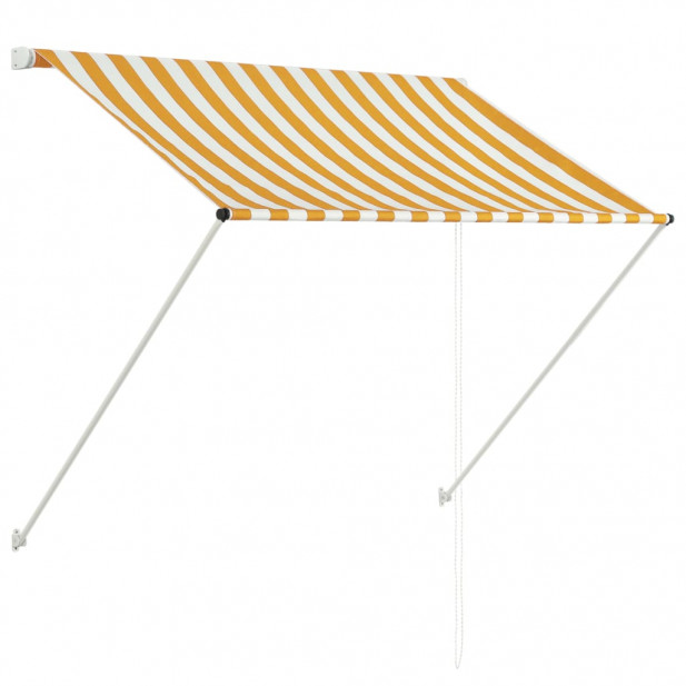 Feltekerhető sárga és fehér napellenző 100 x 150 cm - utánvéttel vagy ingyenes szállítással
