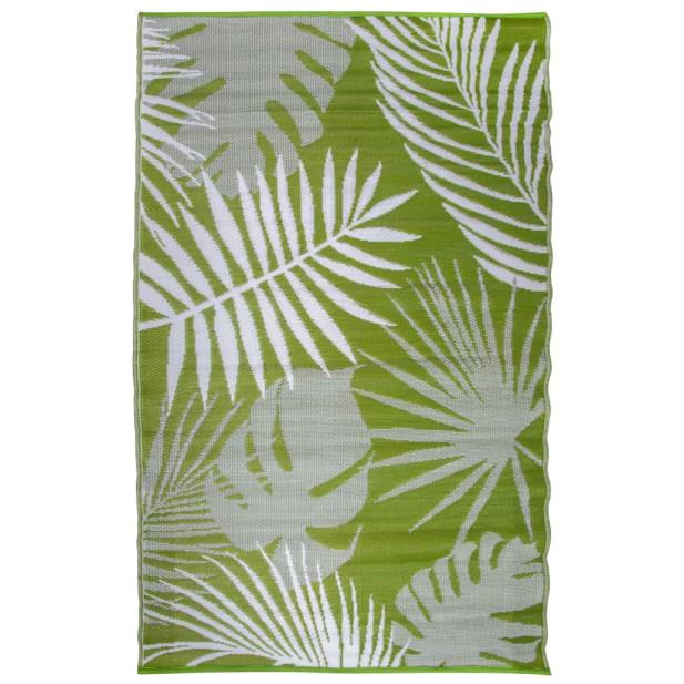 Esschert Design dzsungeles, levélmintás kültéri szőnyeg 241 x 152 cm - utánvéttel vagy ingyenes szállítással