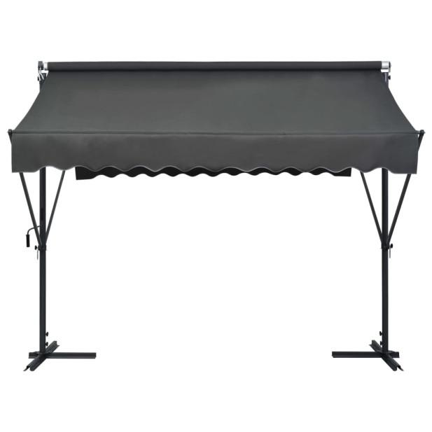 Antracitszürke szabadon álló napellenző 300 x 300 cm - utánvéttel vagy ingyenes szállítással