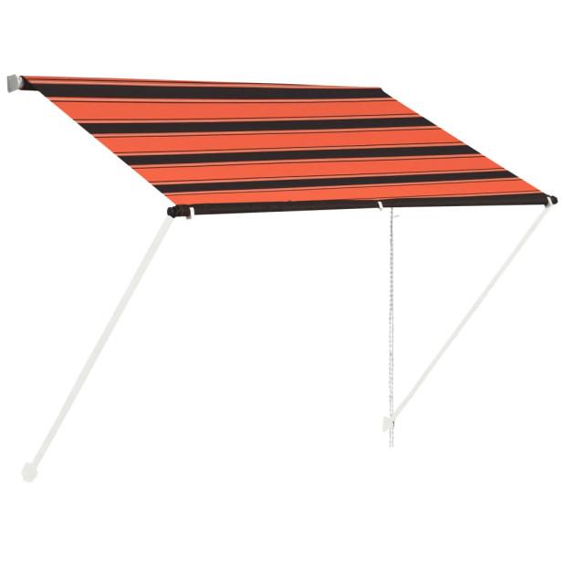 Narancssárga és barna feltekerhető napellenző 100 x 150 cm - utánvéttel vagy ingyenes szállítással