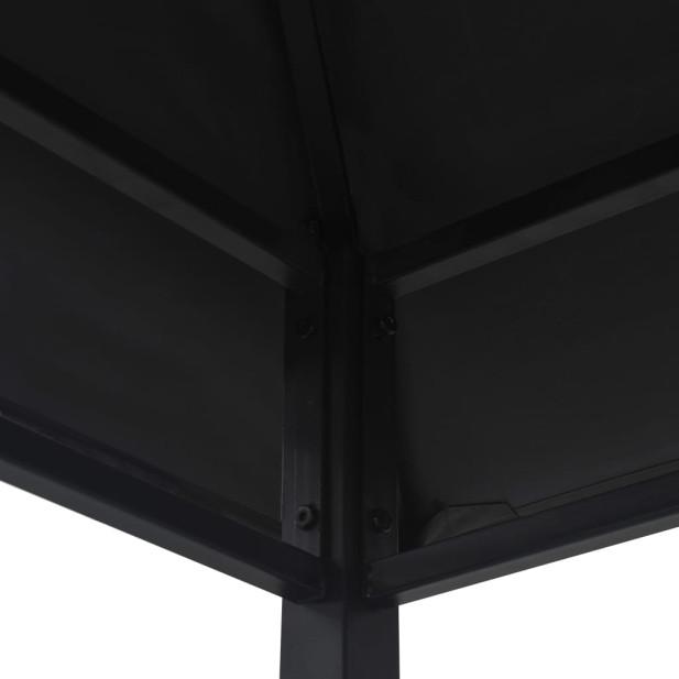 Antracitszürke acél grillpavilon 240 x 150 x 255 cm - utánvéttel vagy ingyenes szállítással