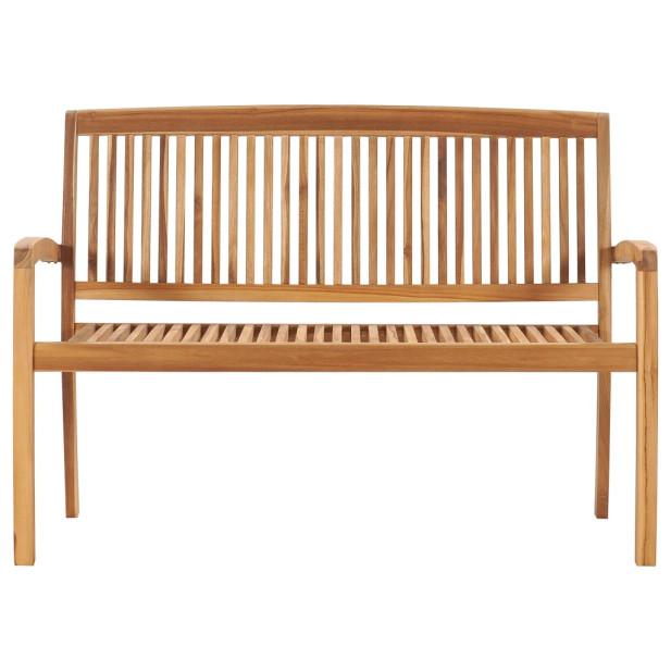 2 személyes tömör tíkfa kerti pad asztallal 128,5 cm - utánvéttel vagy ingyenes szállítással