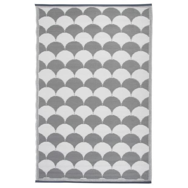 Esschert Design szürke és fehér kültéri szőnyeg 180 x 121 cm OC24 - utánvéttel vagy ingyenes szállítással
