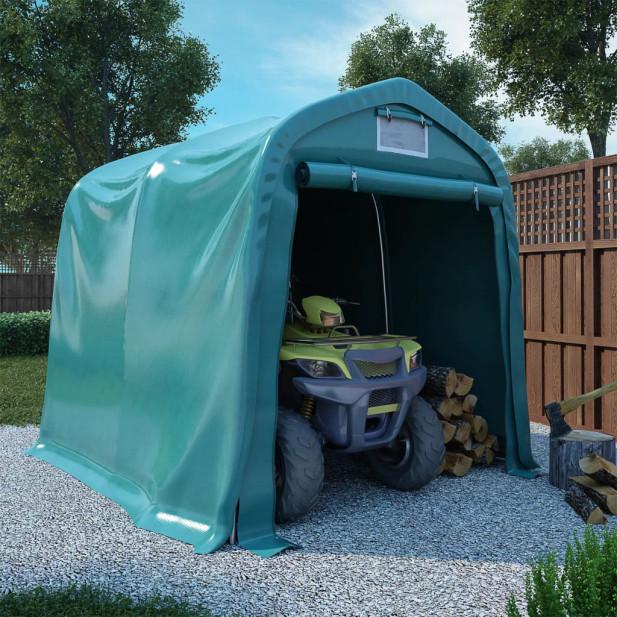 Zöld PVC sátorgarázs 1,6 x 2,4 m - utánvéttel vagy ingyenes szállítással