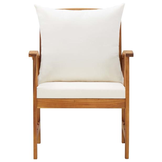2 db tömör akácfa kerti szék párnákkal - utánvéttel vagy ingyenes szállítással