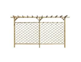 Kerti rácsos fakerítés pergola tetővel - utánvéttel vagy ingyenes szállítással